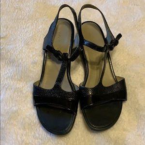 Ecco black sandals size 39